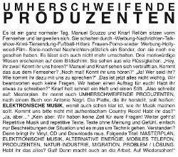 Frontcover Umherschweifende Produzenten - Elektronische Musik